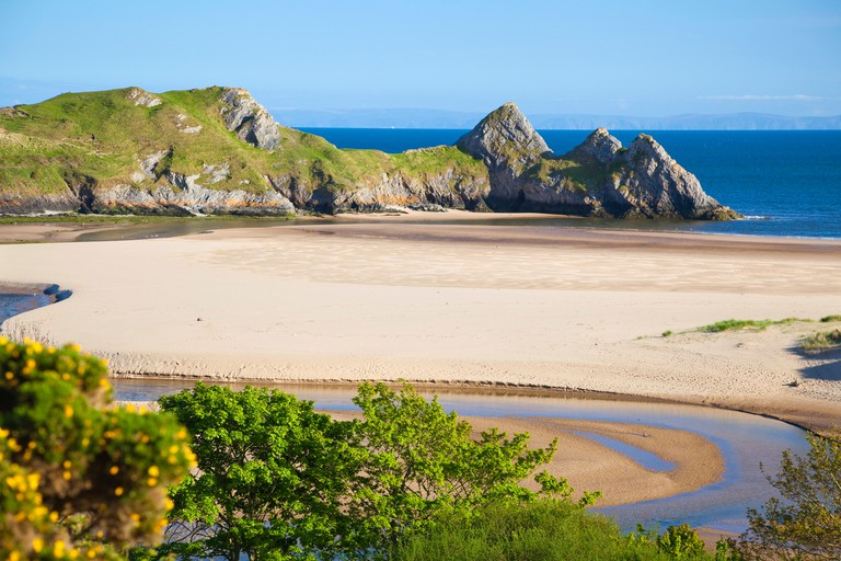 Three Cliffs Bay, Gower, Wales, United Kingdom, Europe