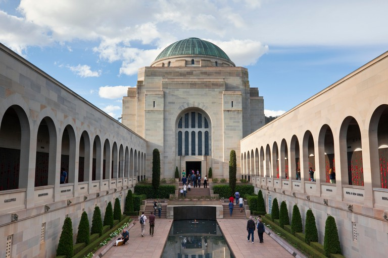 The Commemorative Courtyard at the Australian War Memorial. Canberra, Australian Capital Territory, Australia. Image shot 04/2011. Exact date unknown.