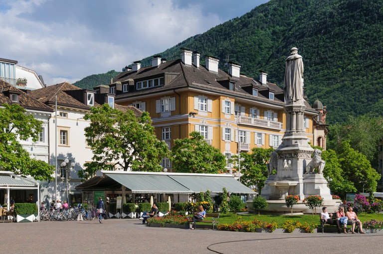 Bolzano, Italy. Piazza Walther. Walther Square.