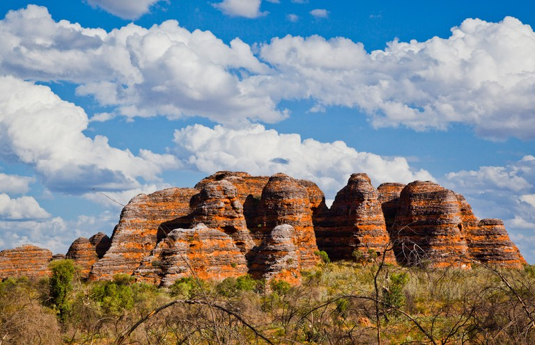 Bungle Bungle National Park, Purnululu, view of the characteristic beehive shaped sandstone domes, Western Australia
