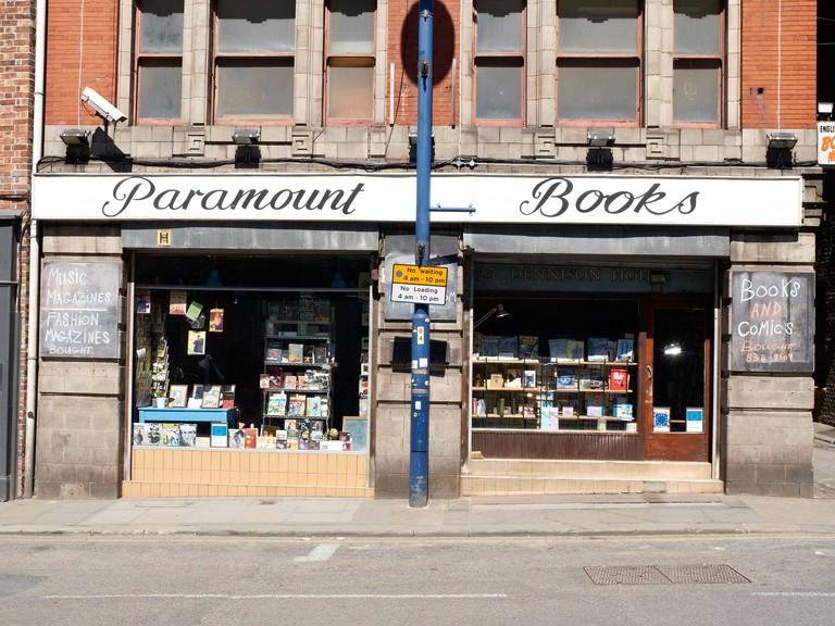 Paramount books exchange on Shudehill Manchester UK. Image shot 2013. Exact date unknown.