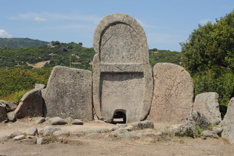 The tomb of giants S'ena and Thomes at the island of Sardinia, Italy