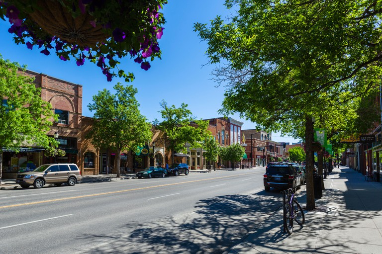 Main Street in downtown Bozeman, Montana, USA