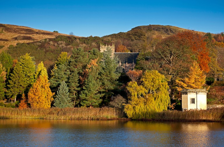 Duddingston Loch, autumn Edinburgh Scotland UK