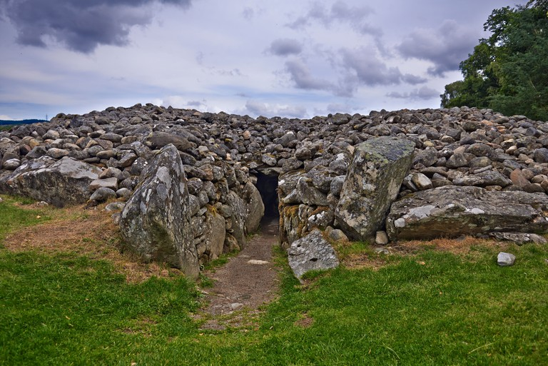 Corrimony Cairn is 4000 years old A chambered cairn is a burial monument