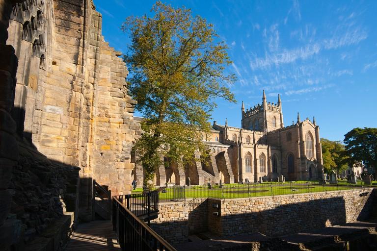 Dunfermline Palace and Abbey, Fife, Scotland, UK. Image shot 2012. Exact date unknown.