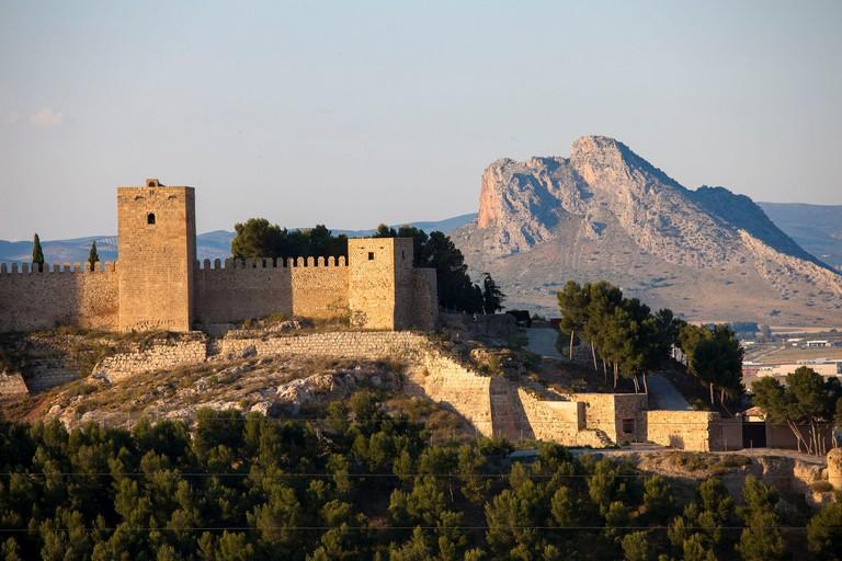 Spain, Andalusia, Antequera, Alcazaba and Pennon de los Enamorados (Mount of lovers)
