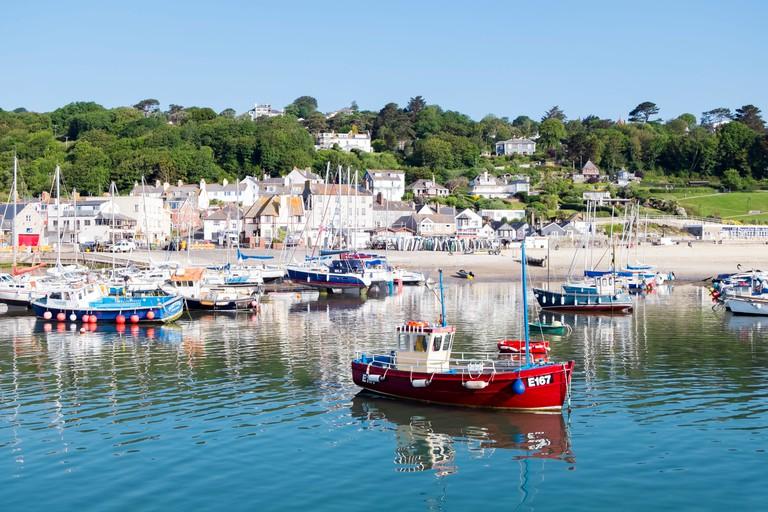 Lyme Regis harbour, Dorset, UK.