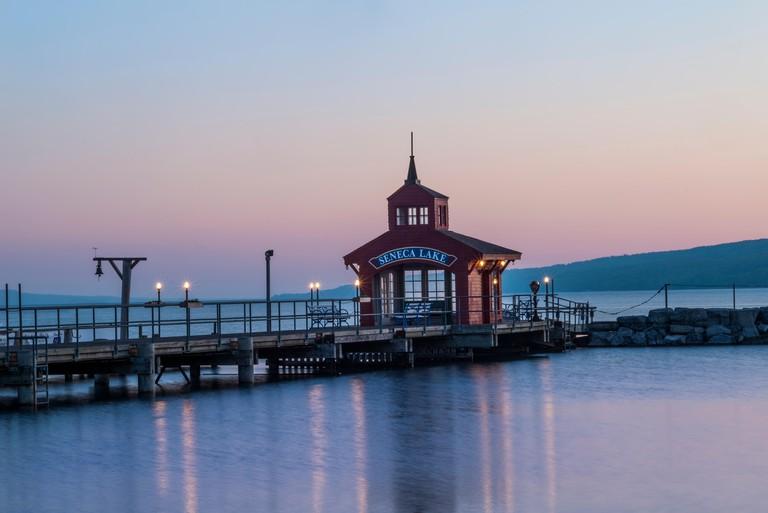 Public dock on Seneca Lake at Watkins Glen, NY. Image shot 05/2014. Exact date unknown.