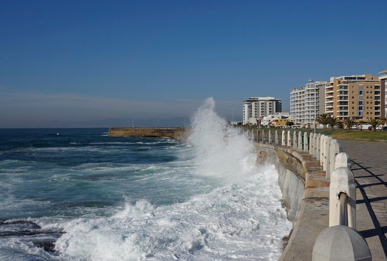 The Sea Point promenade near Cape Town.