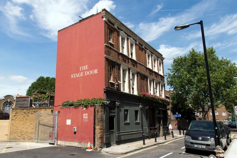 The Stage Door Pub from Gray Street, Lambeth, London, England, UK.