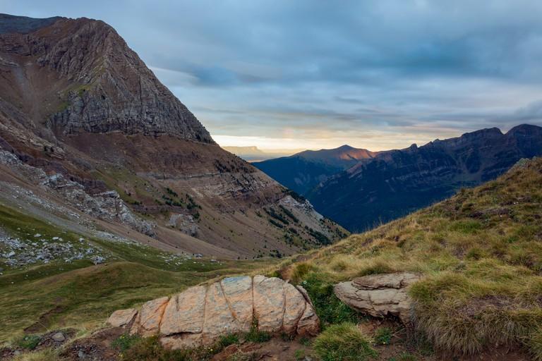 Morning in Sierra de Tendenera, Pyrenees mountains, Spain.
