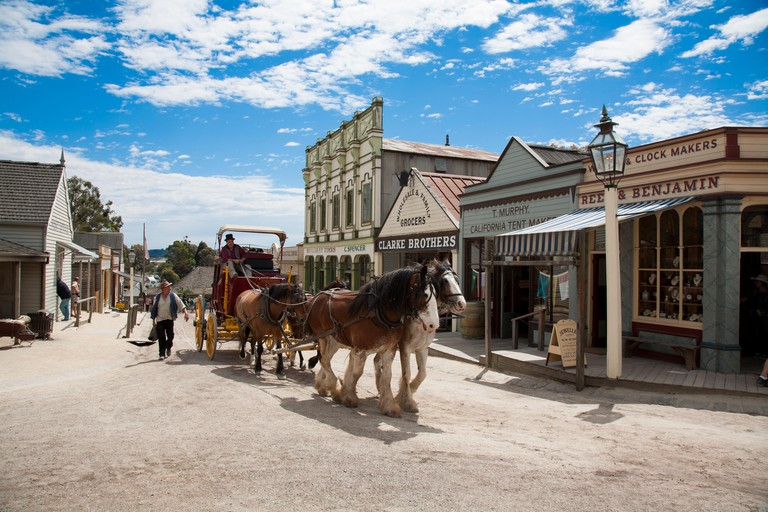 Sovereign Hill - a living museum showcasing early pioneer life on the Victorian goldfields Ballarat Victoria Australia