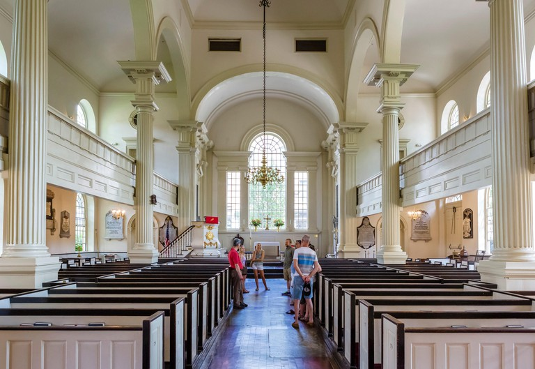 Interior of the historic 18thC Christ Church on N 2nd Street in the Old City district, Philadelphia, Pennsylvania, USA