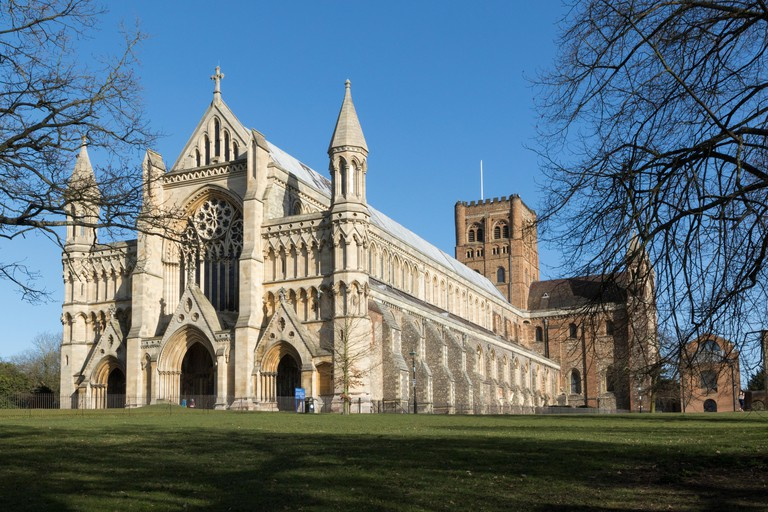 St Albans Cathedral in Hertfordshire