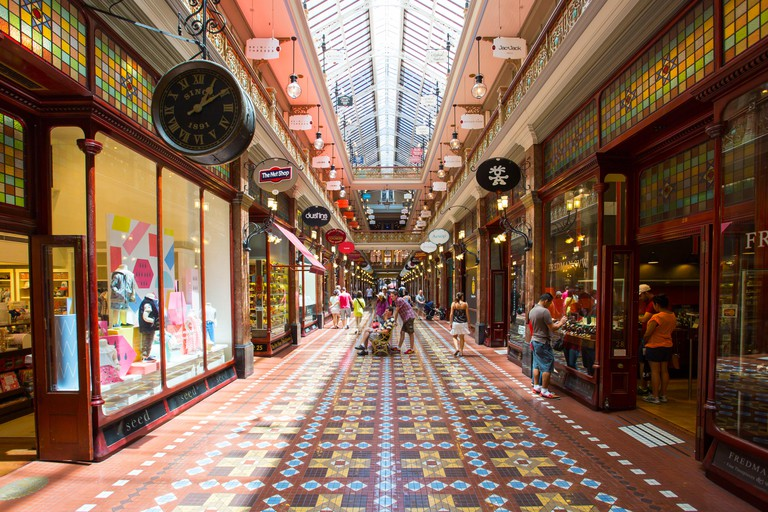 Sydney, Australia - Feb 8 - The Strand Arcade in the middle of a busy day in Sydney CBD on February 8th, 2015.