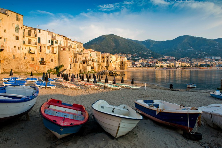 View of the old town. Cefalu, Sicily