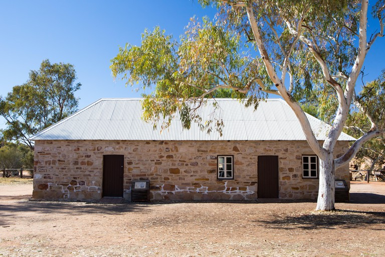 Alice Springs Telegraph Station Historical Reserve on a clear sunny day in Northern Territory, Australia