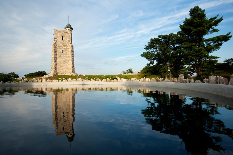 Skytop Tower Reflections - Mohonk Mountain House, New Paltz, Hudson Valley, New York, USA