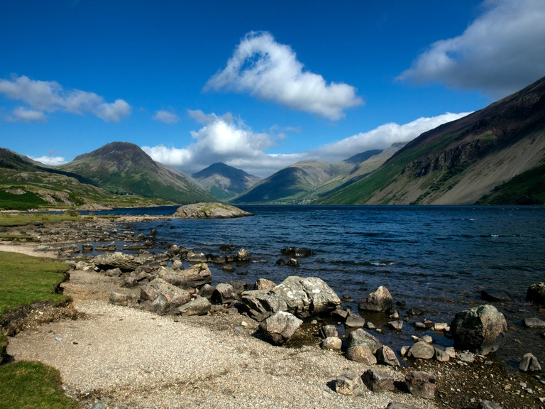 View to Wasdale Head over Wast Water in the English Lake District