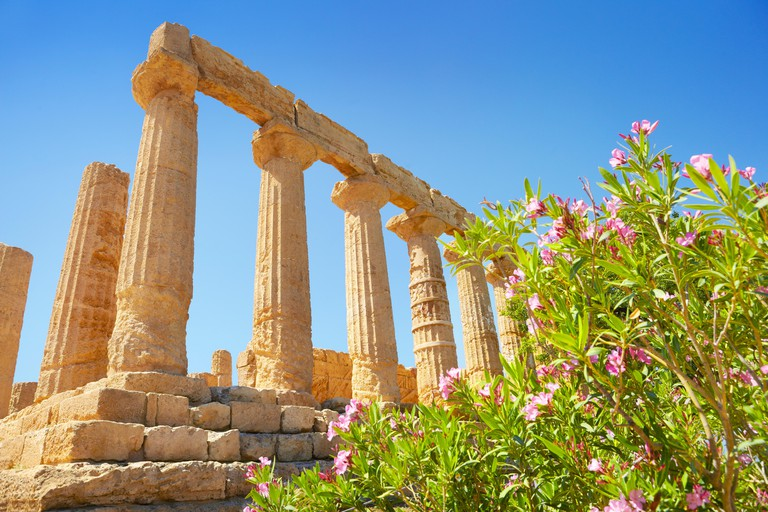 Temple of Hera in Valley of Temples (Valle dei Templi), Agrigento, Sicily, Italy UNESCO
