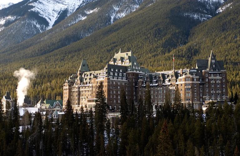 Fairmont Banff Springs Hotel, Banff, Alberta, Canada, North America