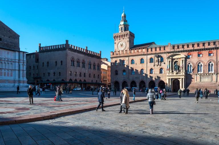 Bologna emilia romagna italy city europe street