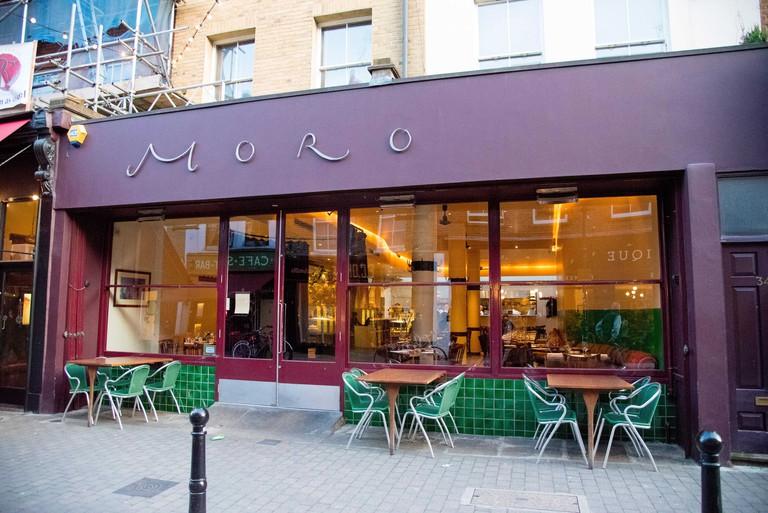 Moro Spanish restaurant Exmouth Market