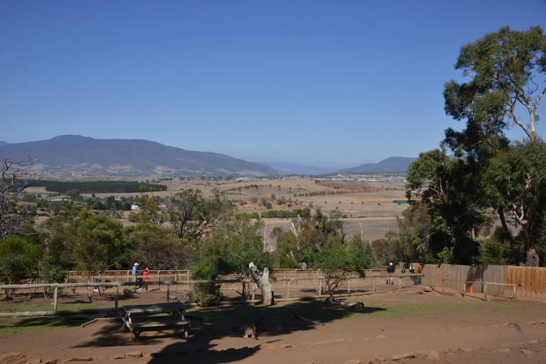 Landscape view as seen from the Bonorong Wildlife  Sanctuary nr Hobart, Tasmania