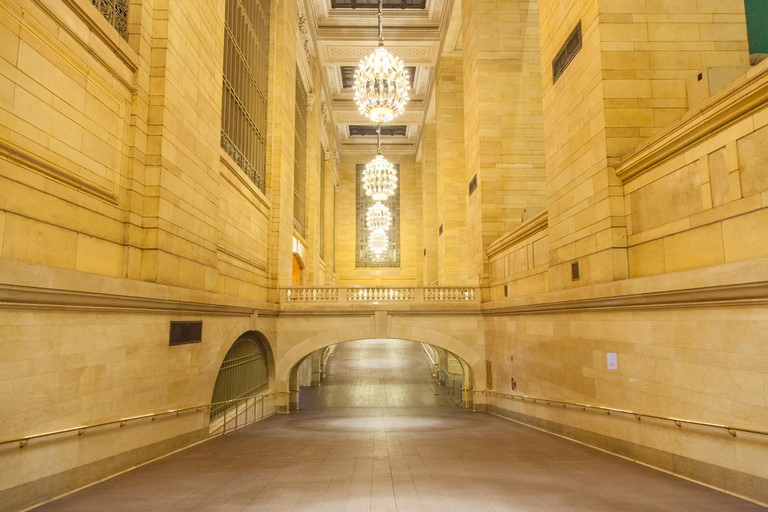 Whispering gallery in Grand Central terminal Station. Manhattan, New York City, United States of America.
