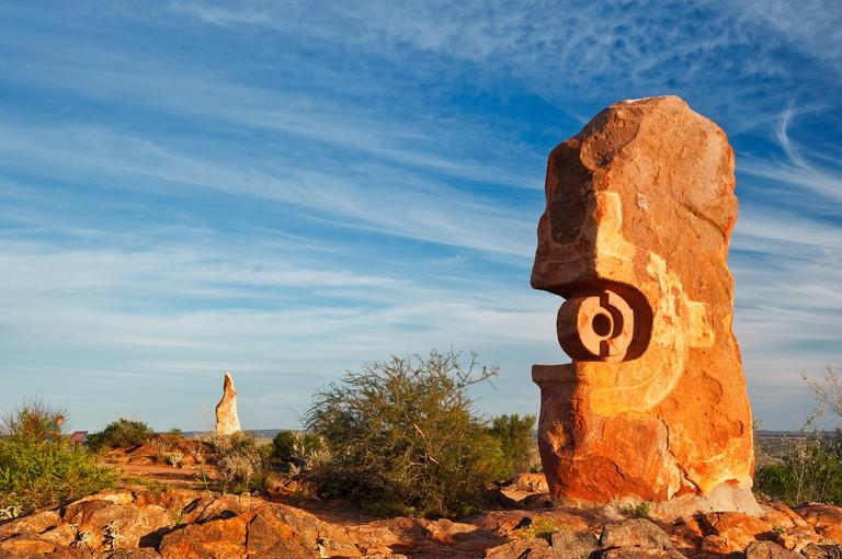 Sculpture Symposium in the Living Desert at Broken Hill.
