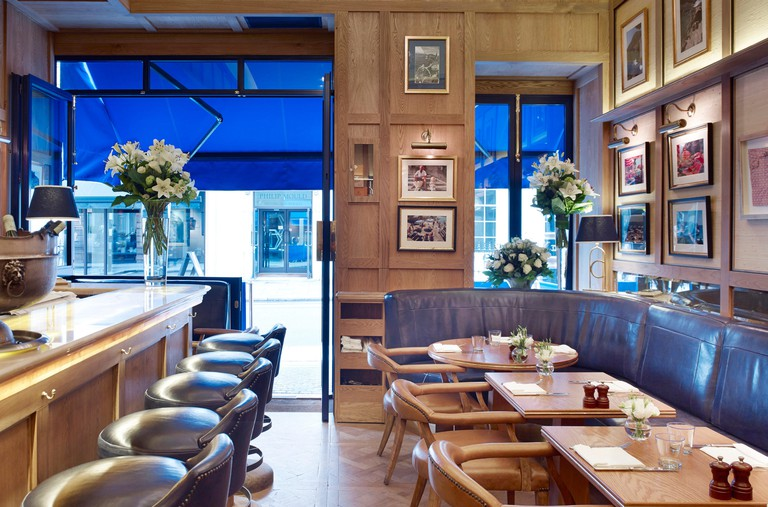 Cafe interior. Chucs Restaurant & Cafe, LONDON, United Kingdom. Architect: Stiff + Trevillion Architects, 2014.