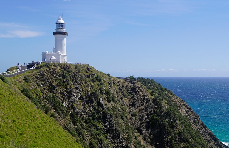 Cape Byron Lighthouse on Pacific coast at eastern most point of Australia