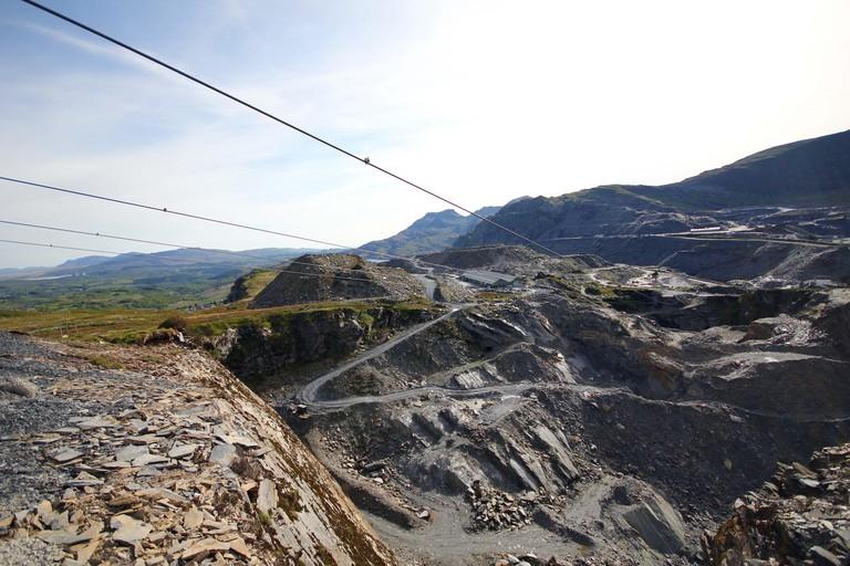 Zip World Titan Ride - Llechwedd Slate Caverns - Snowdonia