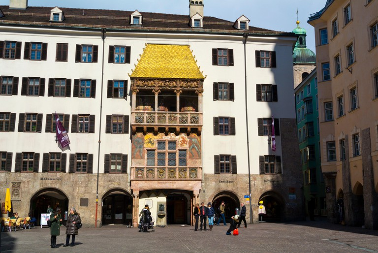 Goldenes Dachl, The Golden Roof, Herzog-Friedrich-Strasse, Altstadt, old town, Innsbruck, Tyrol, Austria