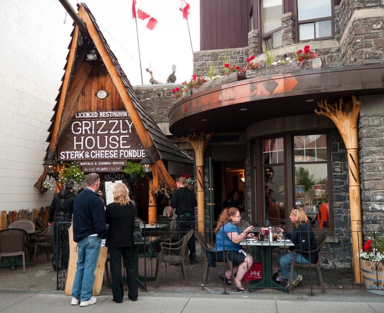 Grizzly House restaurant in Banff Alberta Canada