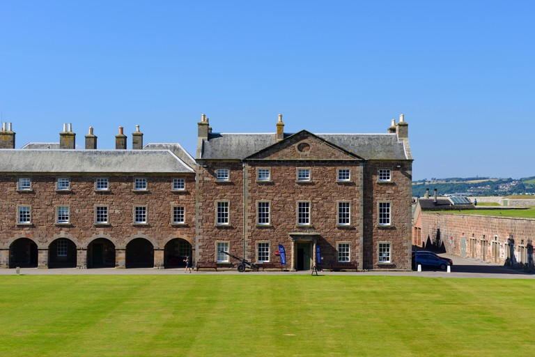 Staff Block and Highlander's Museum within Fort George on Moray Coast, Highland, Scotland