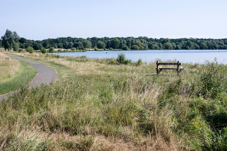 Ferry Meadows country park, also known as Nene Park in Peterborough, Cambridgeshire, UK