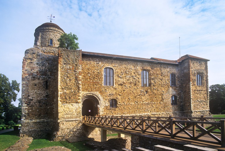 Great Britain, England, Essex, Colchester, view of Colchester Castle, castle keep built by the Normans between 1076- 1125