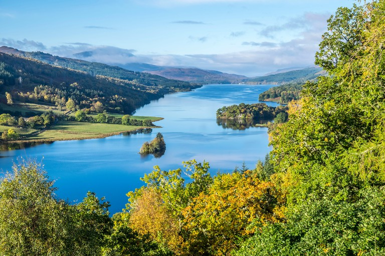 The Queen?s View in Highland Perthshire overlooks Loch Tummel and is said to have been named after Queen Victoria,