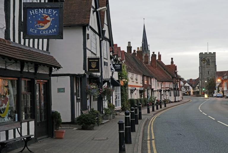 Henley in Arden High Street, Warwickshire, England. Image shot 2009. Exact date unknown.