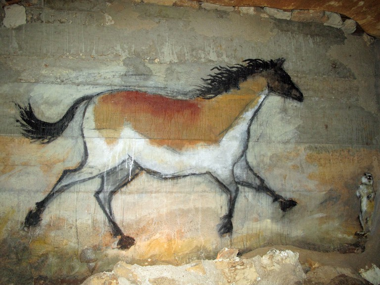 Horse painting at Inner Space Cavern