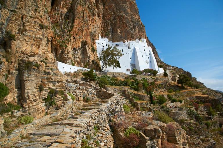 Hozoviotissa monastery, Amorgos, Cyclades, Greek Islands, Greece, Europe