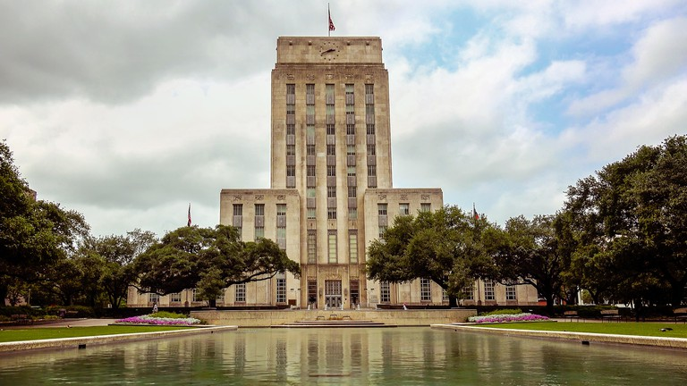 City Hall building in downtown Houston, Texas