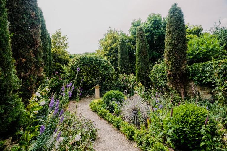 The garden behind the Herschel Museum of Astronomy in Bath, UK