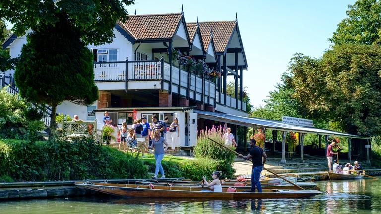 Bath Boating Station, On the River Avon between Bath and Bathampton somerset England UK