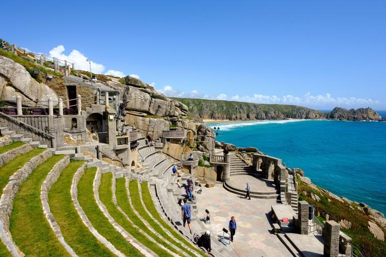Minack Theatre, open-air theatre, Porthcurno, Cornwall, England, Great Britain