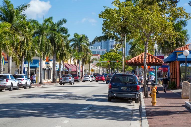 Miami, Florida.  Calle Ocho (Eighth Street), Little Havana.