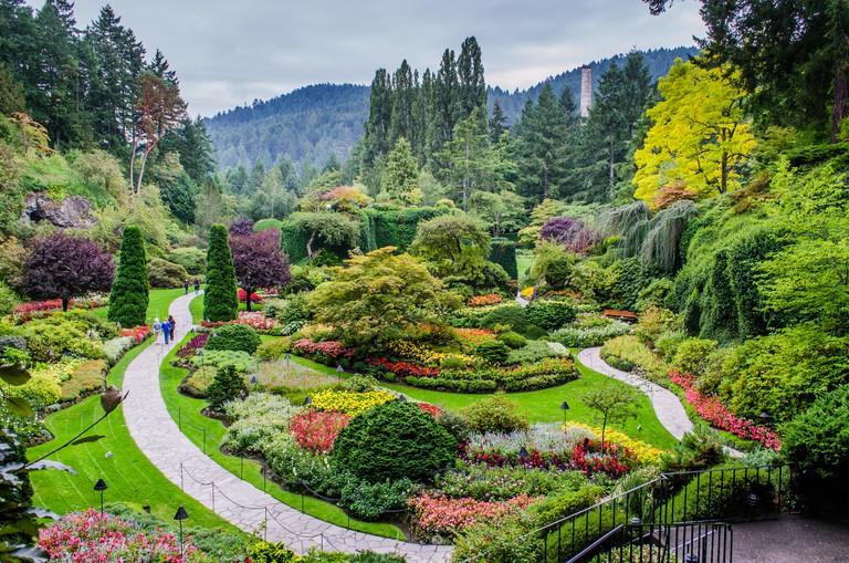 Sunken Garden at Butchart Gardens, Vancouver Island