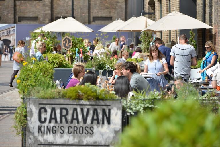Caravan Restaurant, Granary Square, Kings Cross, London